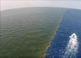 神奇的海洋奇观:两片海域呈蓝绿分界无法相融