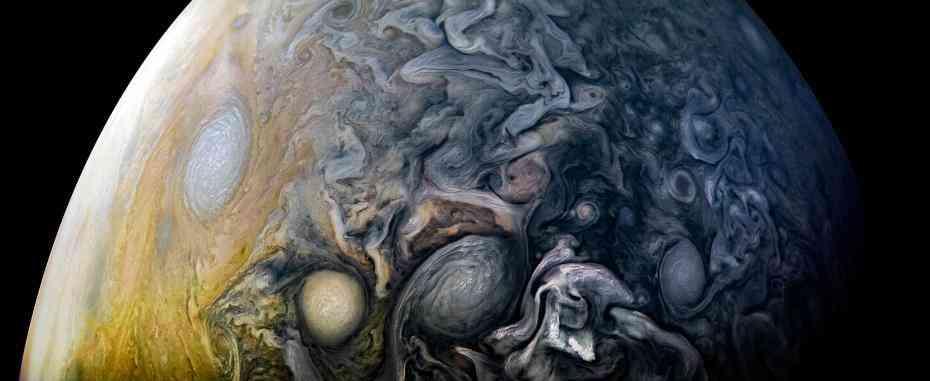"""""""朱诺""""号12次飞越木星 带来波云诡谲震撼画面"""